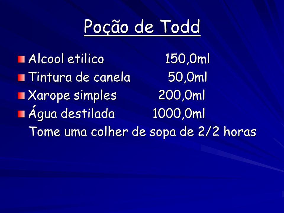 Poção de Todd Alcool etilico 150,0ml Tintura de canela 50,0ml
