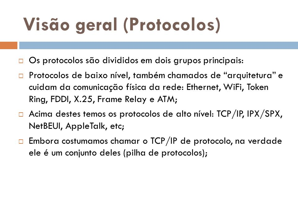 Visão geral (Protocolos)