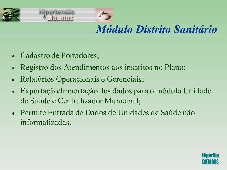 Módulo Distrito Sanitário