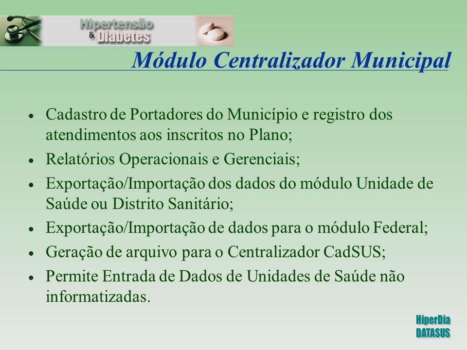 Módulo Centralizador Municipal