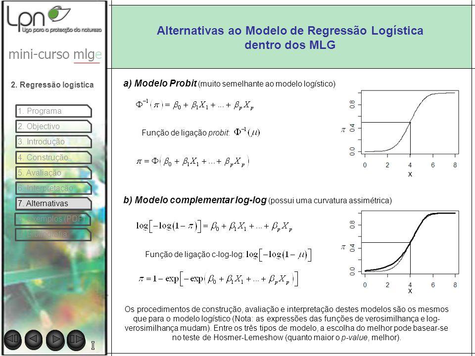 Alternativas ao Modelo de Regressão Logística dentro dos MLG