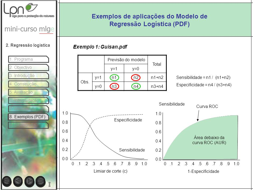 Exemplos de aplicações do Modelo de Regressão Logística (PDF)