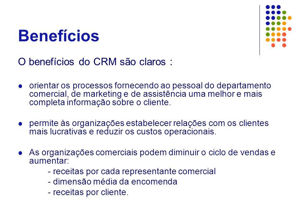 Benefícios O benefícios do CRM são claros :