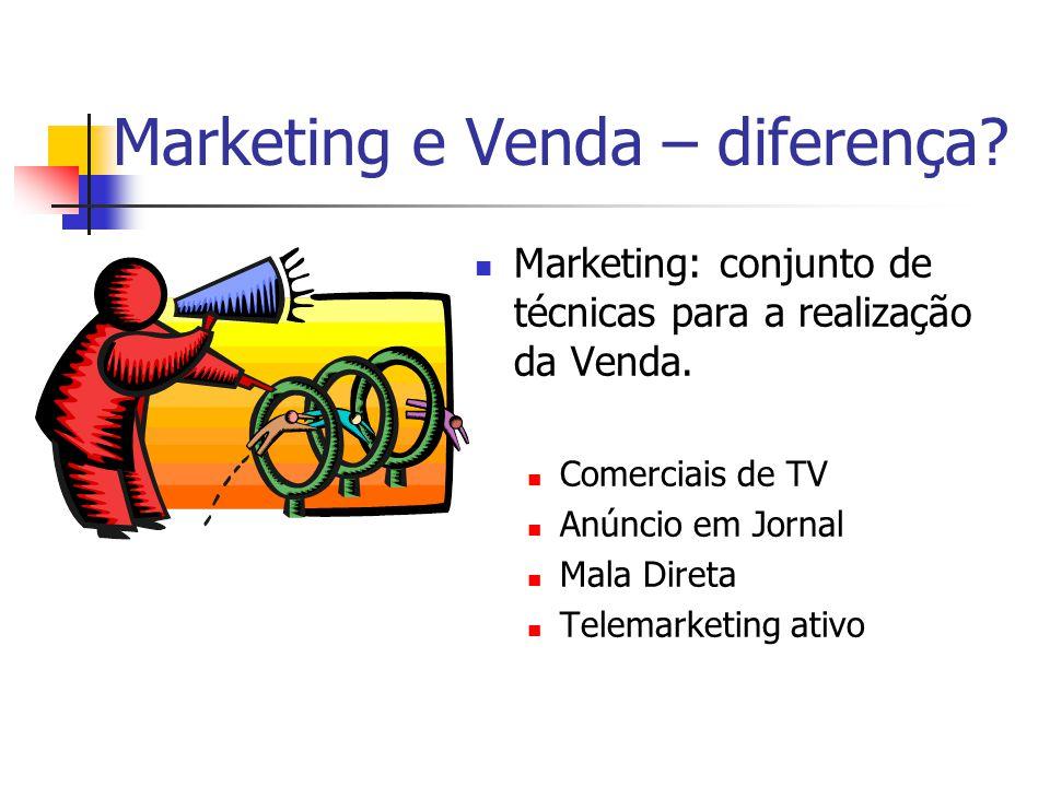 Marketing e Venda – diferença