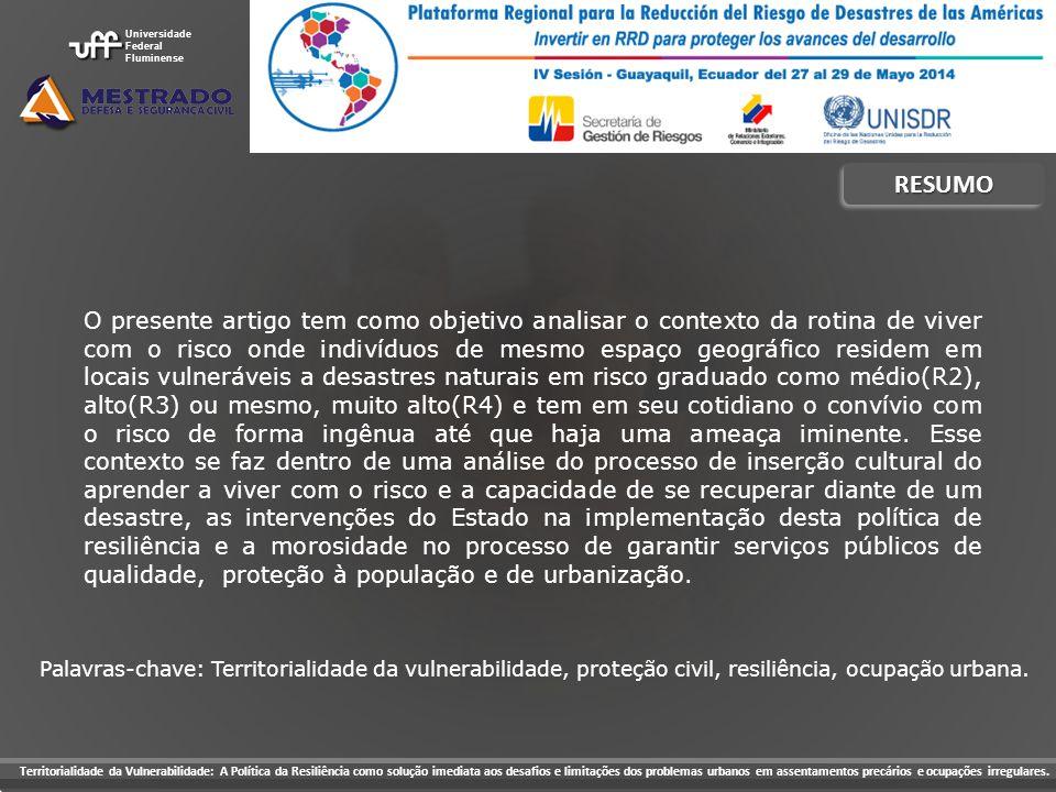 Universidade Federal. Fluminense. RESUMO.