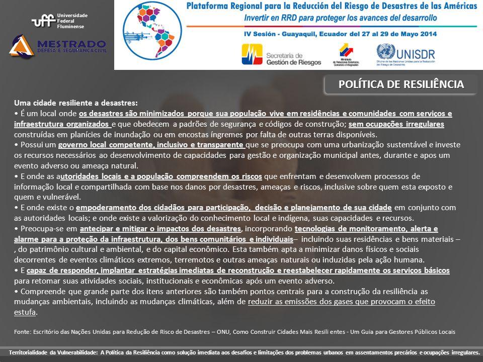 POLÍTICA DE RESILIÊNCIA
