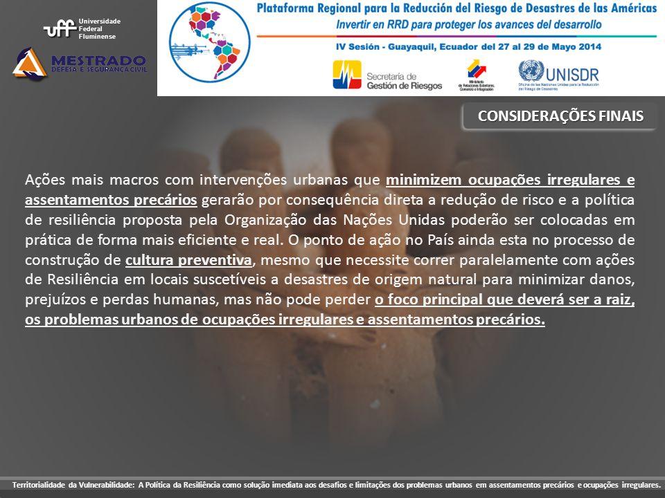 Universidade Federal. Fluminense. CONSIDERAÇÕES FINAIS.