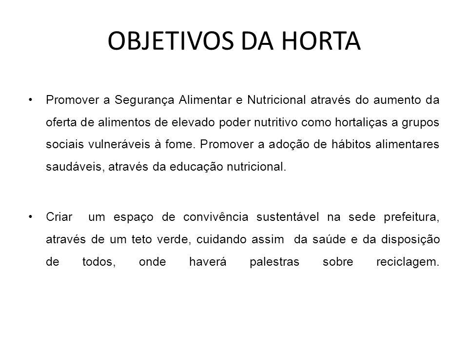 OBJETIVOS DA HORTA