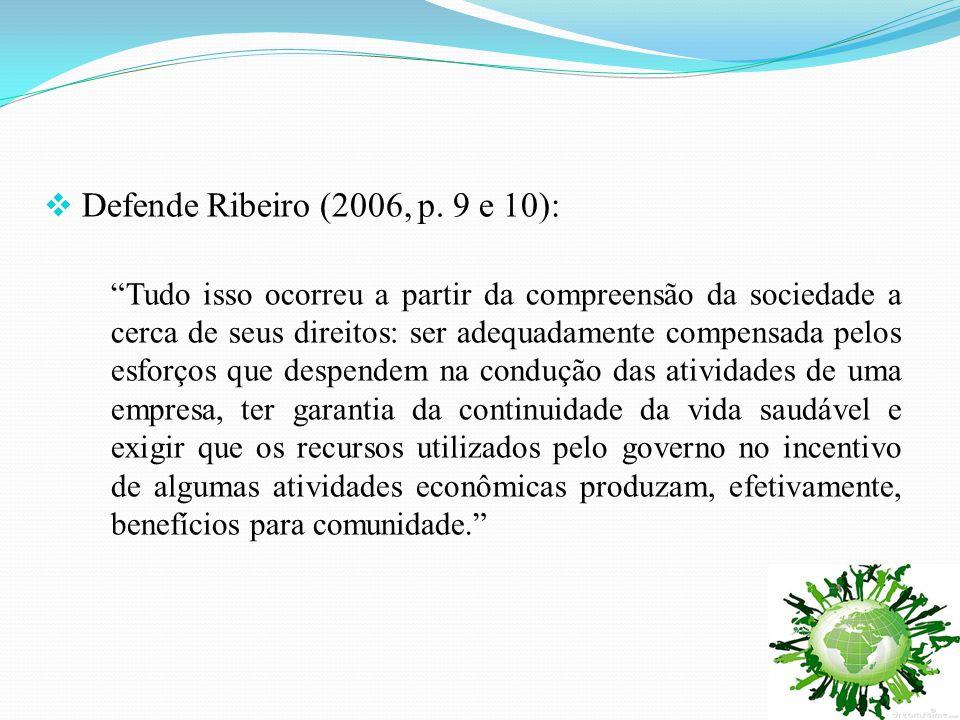 Defende Ribeiro (2006, p. 9 e 10):