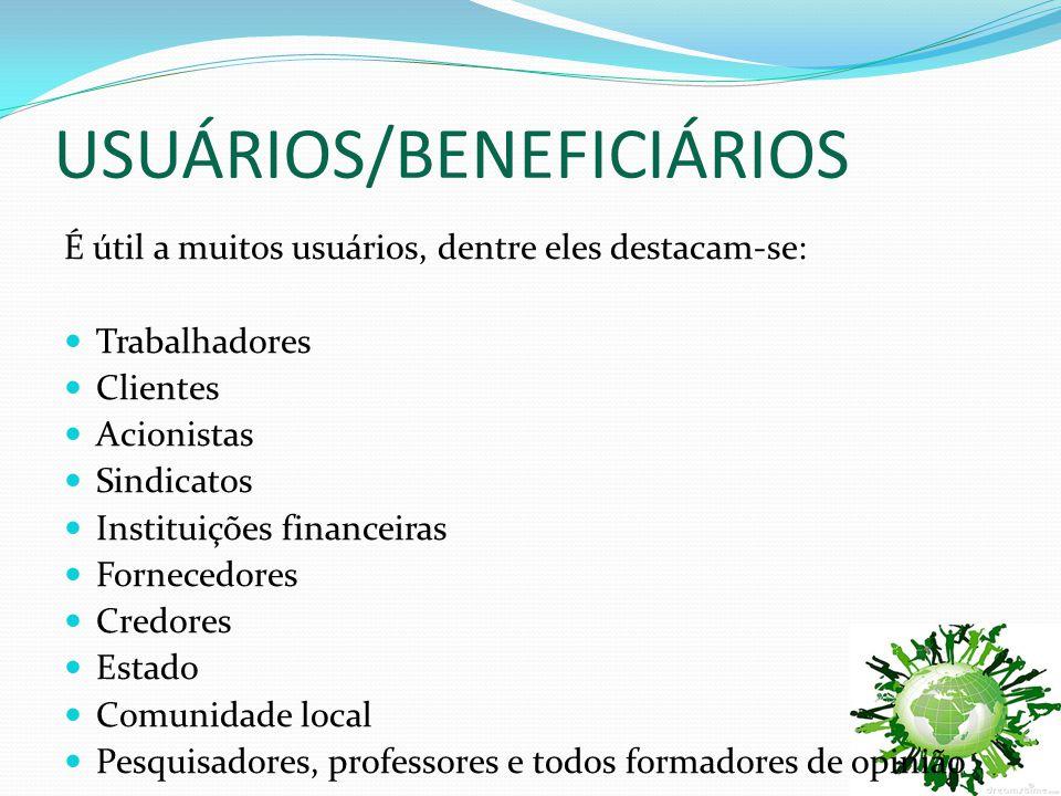 USUÁRIOS/BENEFICIÁRIOS