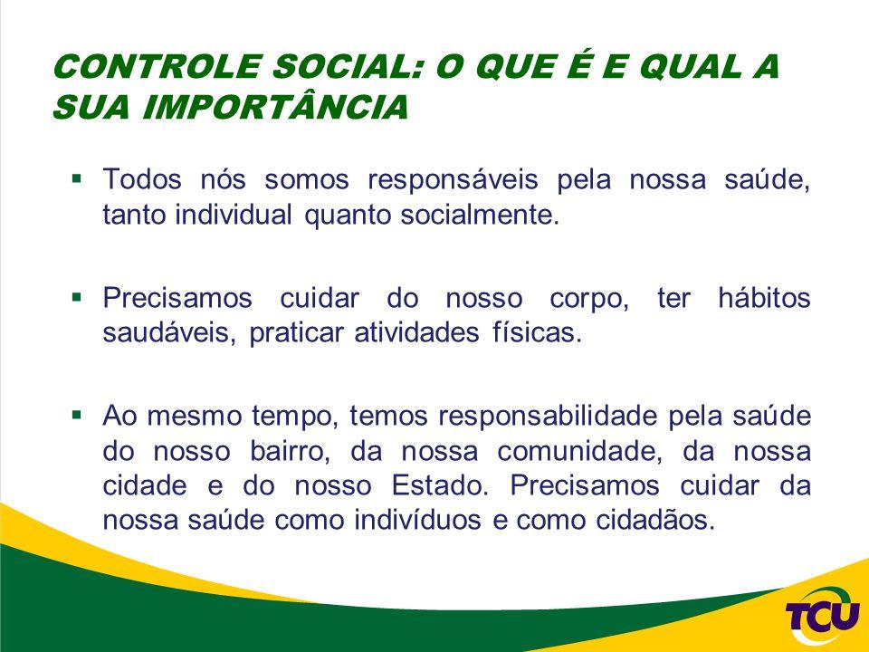 CONTROLE SOCIAL: O QUE É E QUAL A SUA IMPORTÂNCIA
