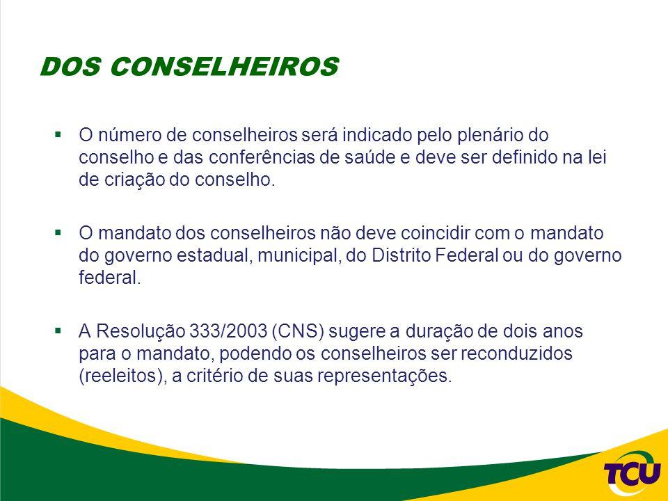 DOS CONSELHEIROS