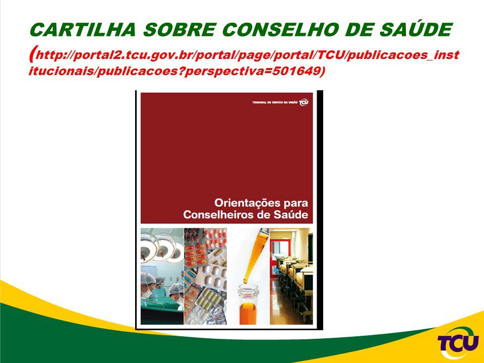 CARTILHA SOBRE CONSELHO DE SAÚDE (http://portal2. tcu. gov