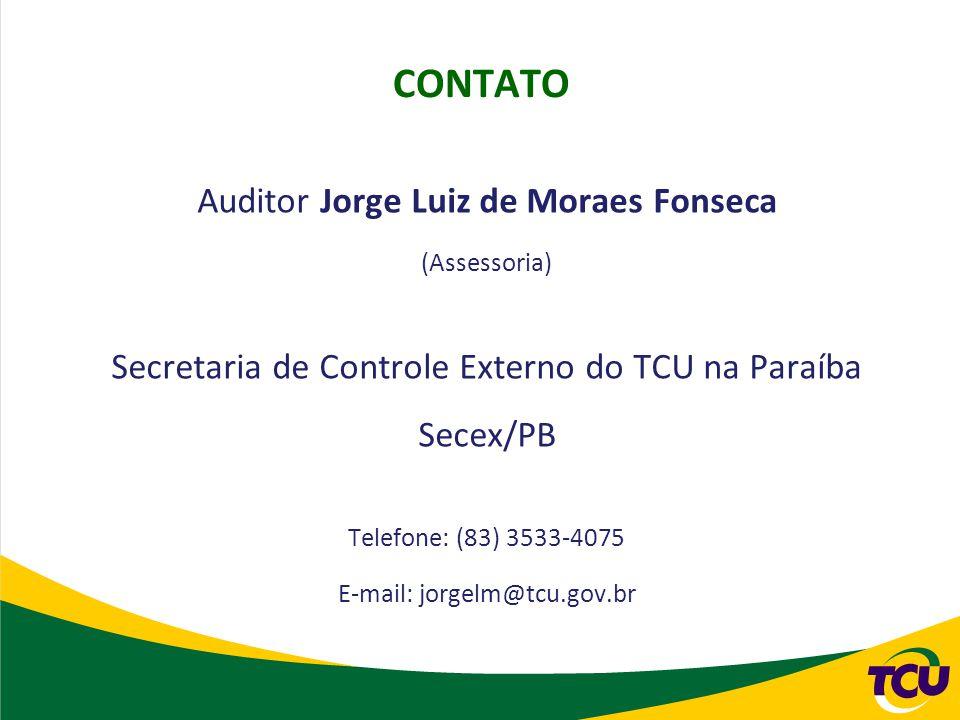 CONTATO Auditor Jorge Luiz de Moraes Fonseca