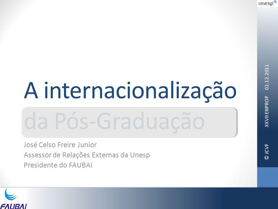 A internacionalização da Pós-Graduação