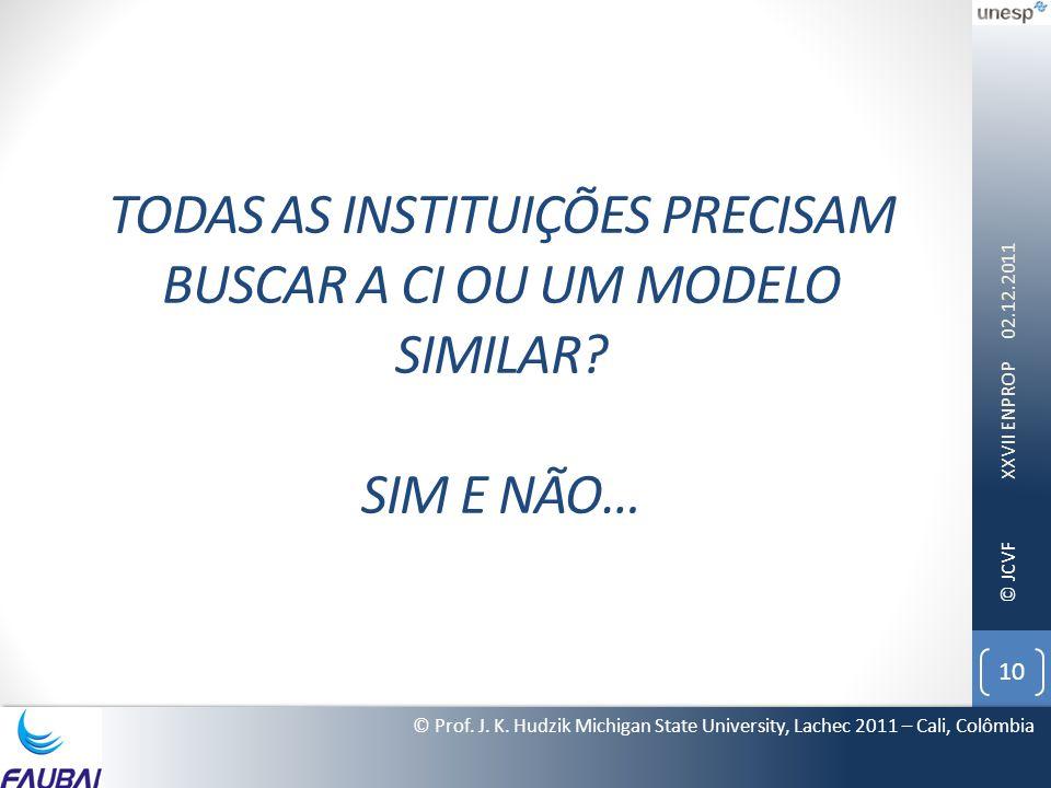 Todas as instituições precisam Buscar a CI ou um modelo similar