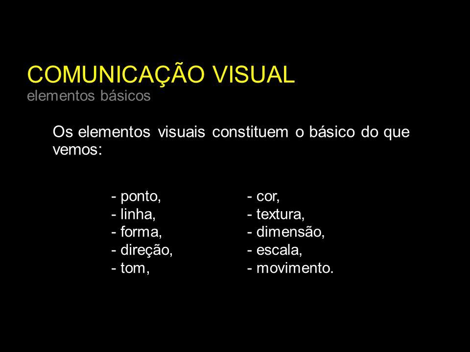 COMUNICAÇÃO VISUAL elementos básicos