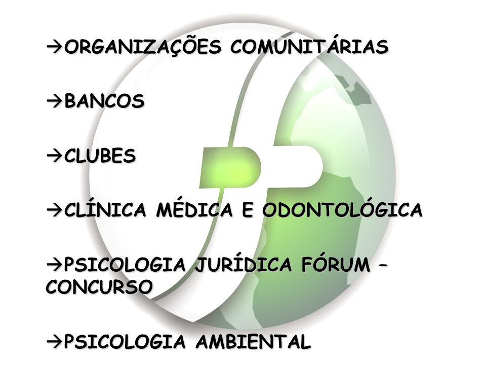 ORGANIZAÇÕES COMUNITÁRIAS
