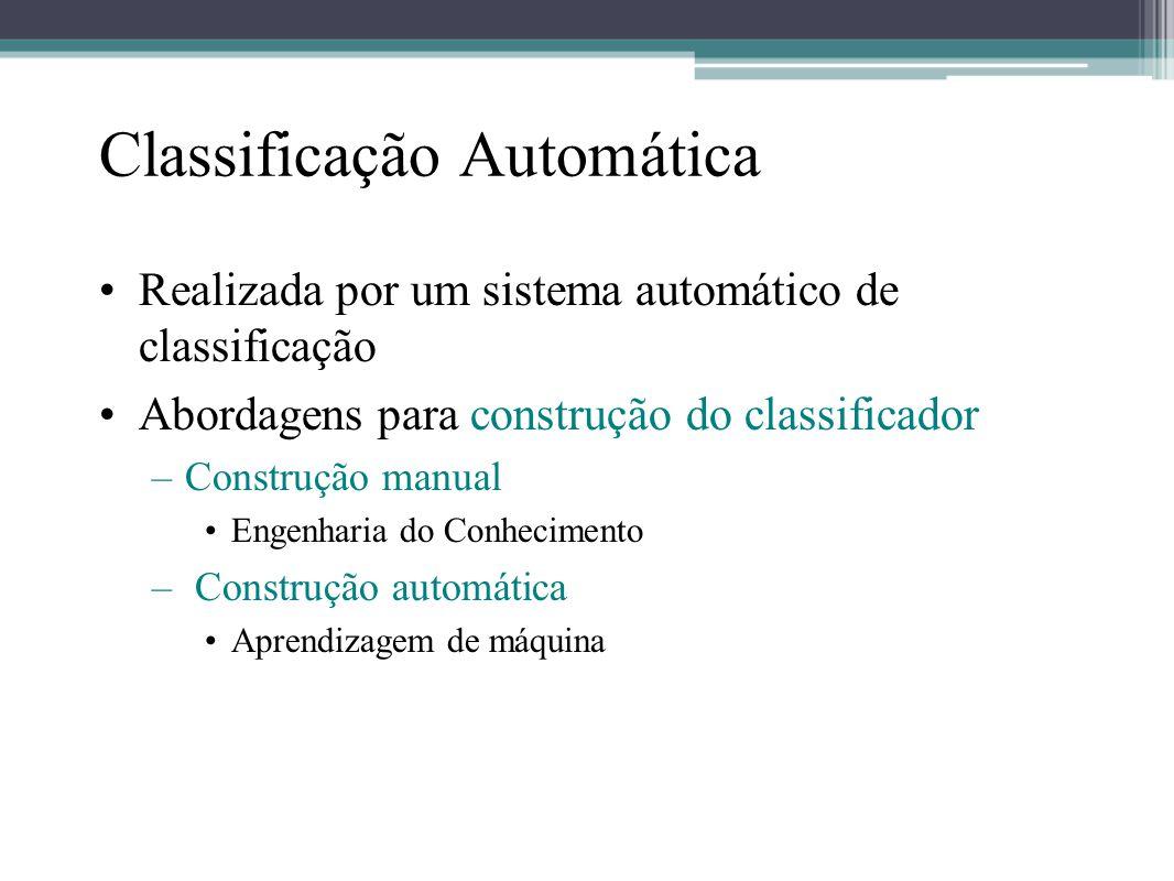 Classificação Automática