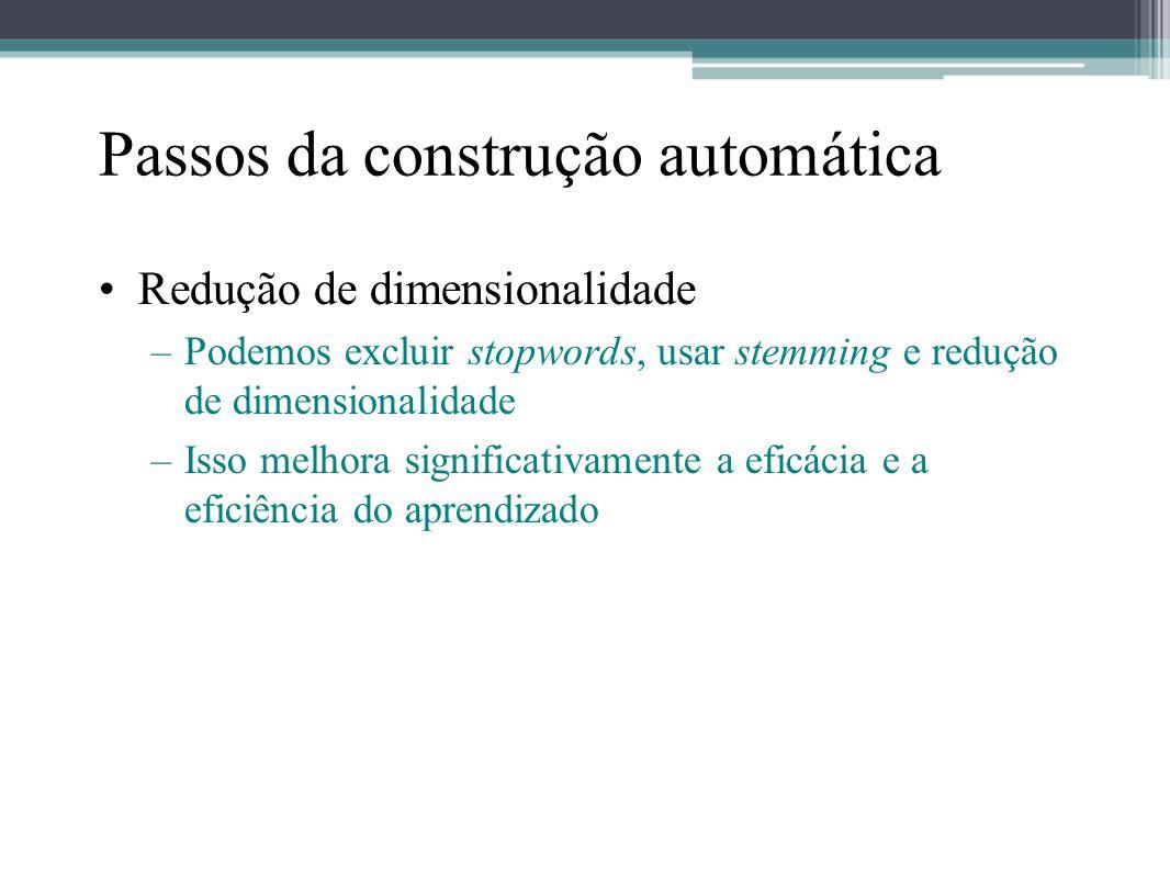 Passos da construção automática