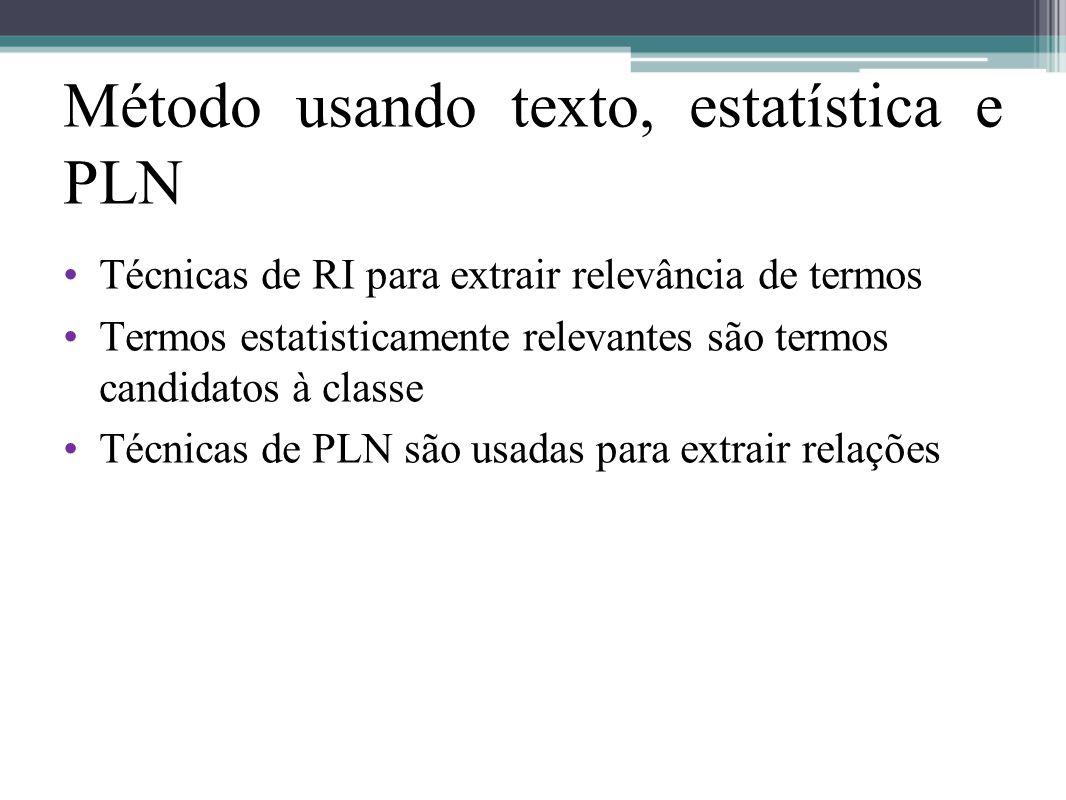 Método usando texto, estatística e PLN