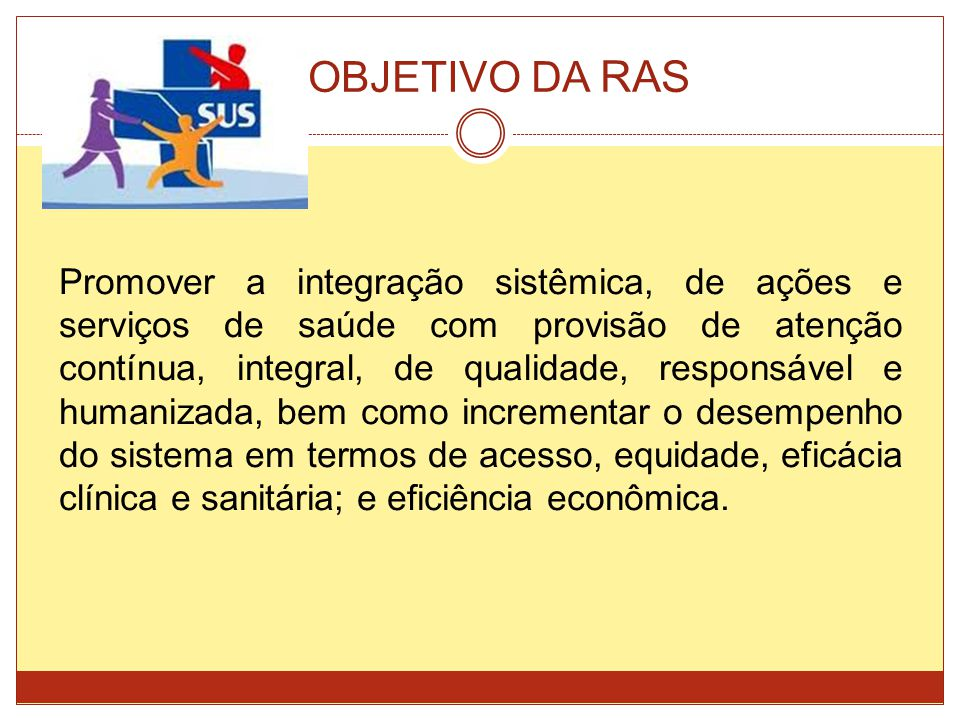 OBJETIVO DA RAS