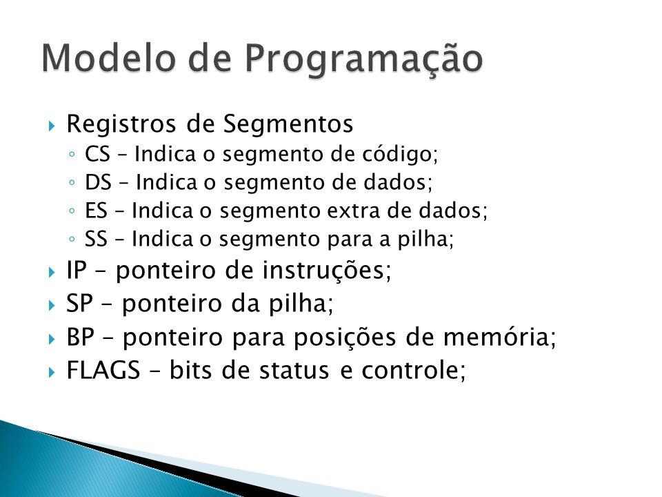 Modelo de Programação Registros de Segmentos