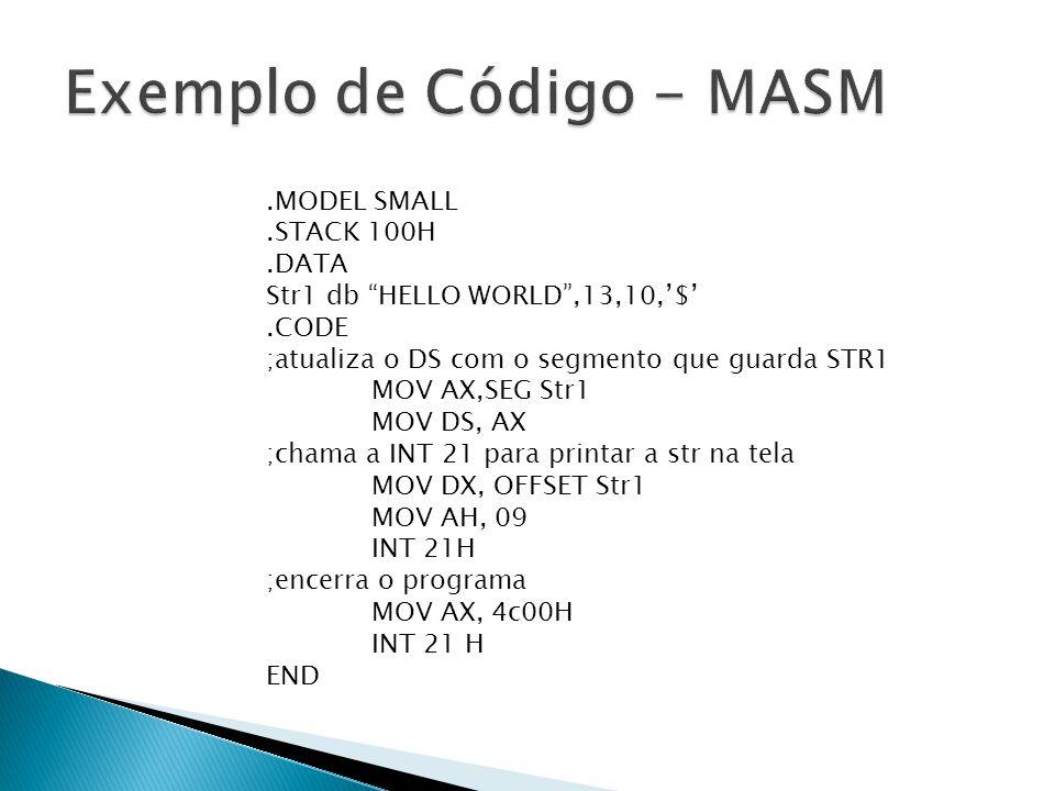 Exemplo de Código - MASM