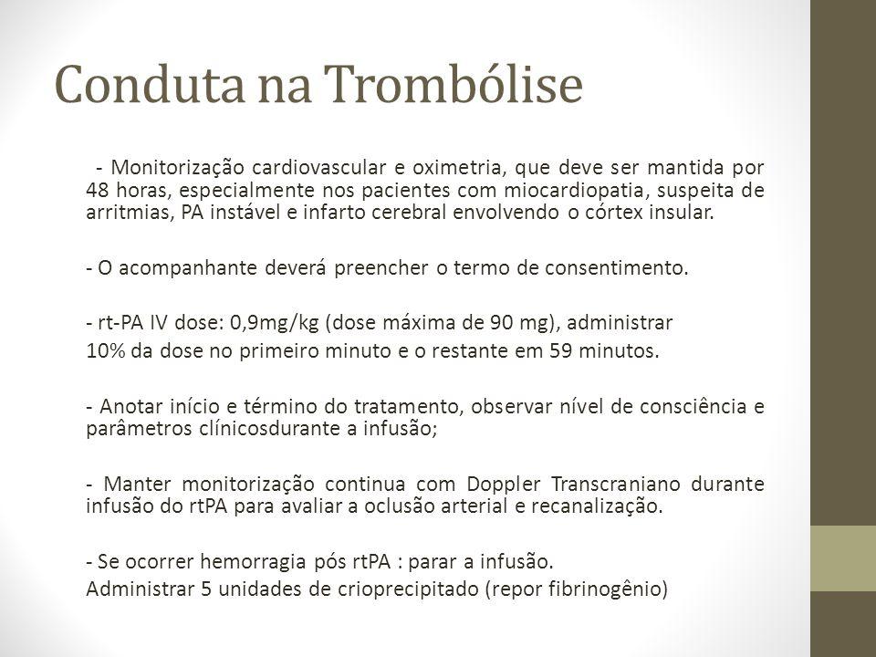 Conduta na Trombólise