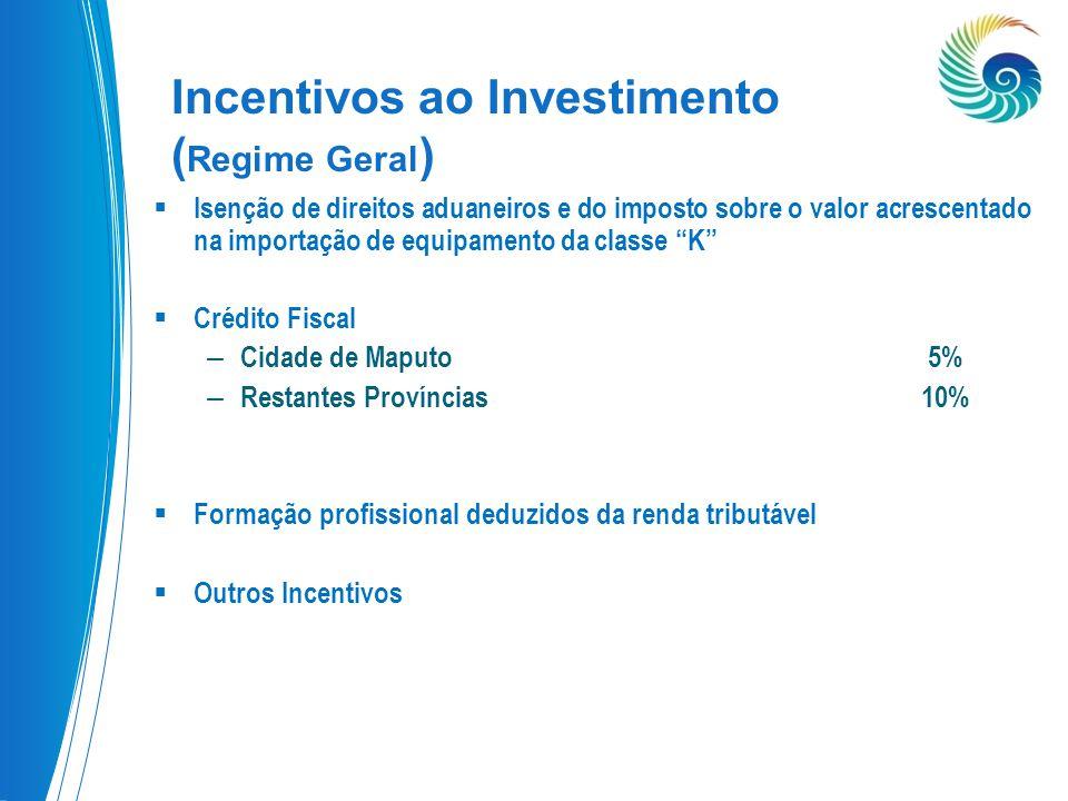 Incentivos ao Investimento (Regime Geral)