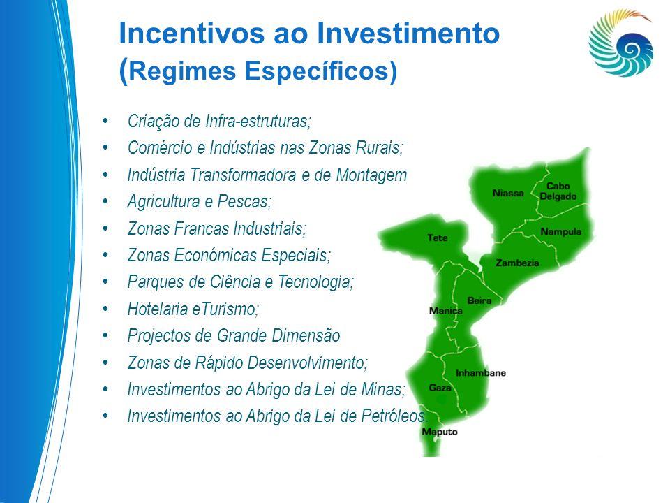 Incentivos ao Investimento (Regimes Específicos)