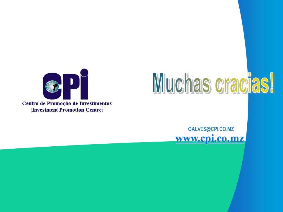 Muchas cracias! GALVES@CPI.CO.MZ www.cpi.co.mz