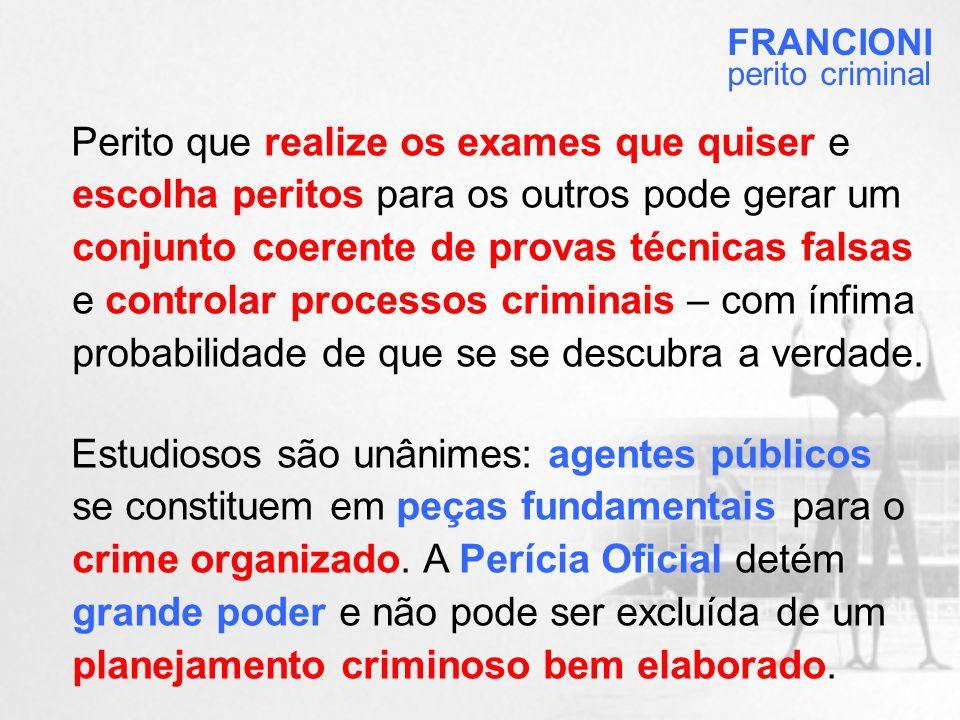 FRANCIONI perito criminal.
