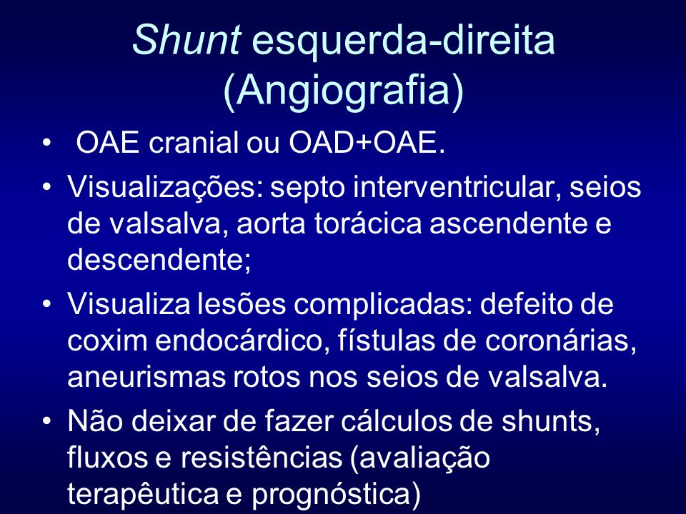 Shunt esquerda-direita (Angiografia)