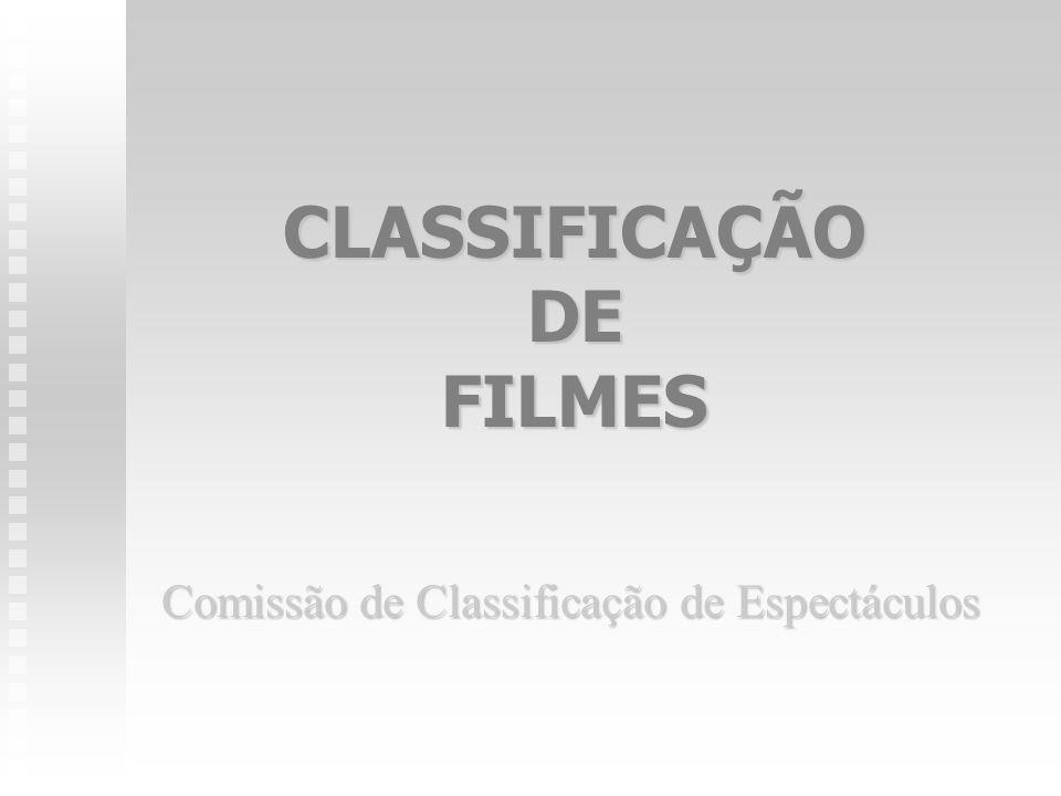CLASSIFICAÇÃO DE FILMES