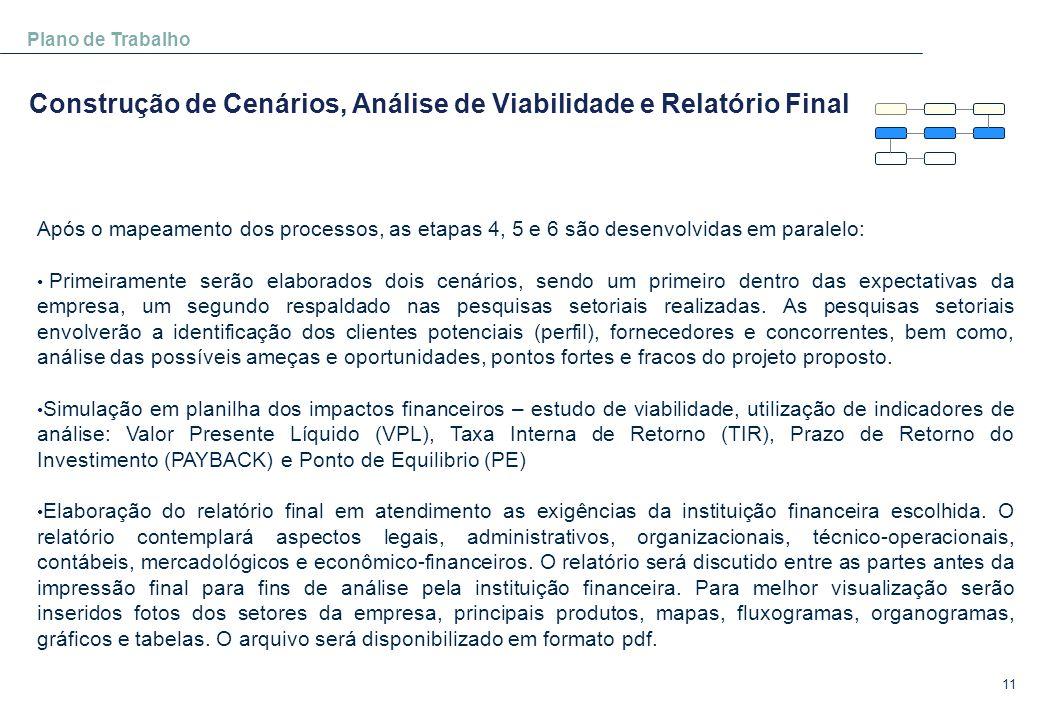 Construção de Cenários, Análise de Viabilidade e Relatório Final