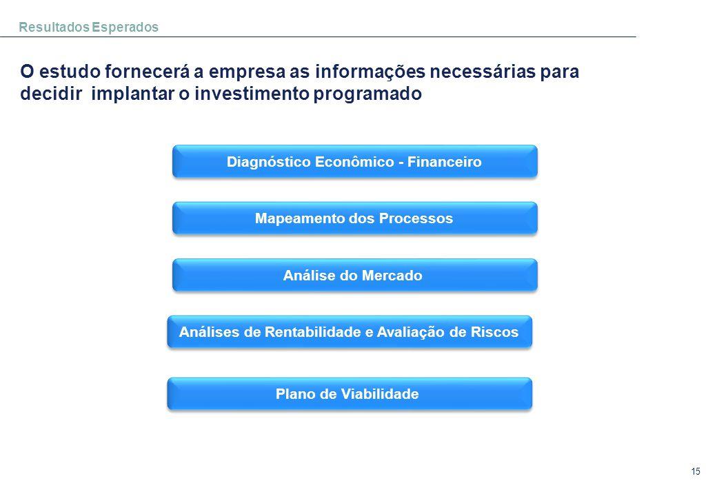 Resultados Esperados O estudo fornecerá a empresa as informações necessárias para decidir implantar o investimento programado.