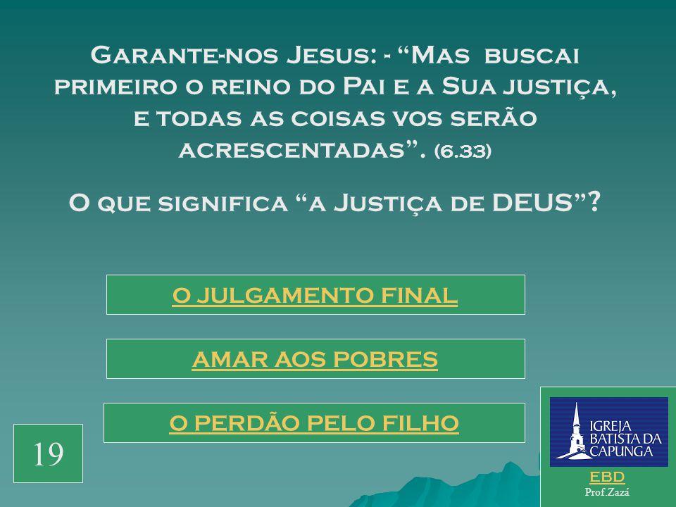 O que significa a Justiça de DEUS