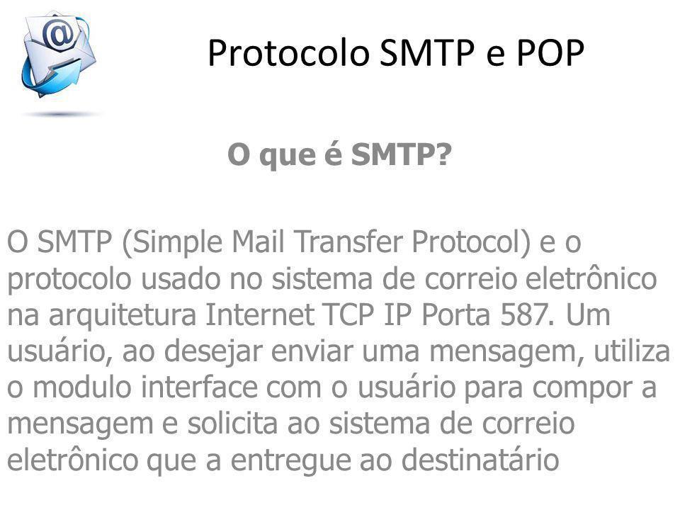 Protocolo SMTP e POP O que é SMTP