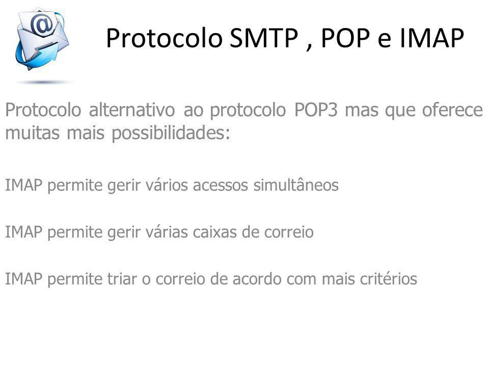 Protocolo SMTP , POP e IMAP