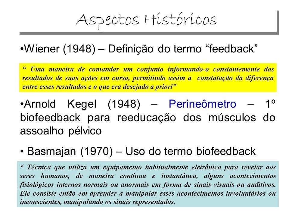 Aspectos Históricos Wiener (1948) – Definição do termo feedback