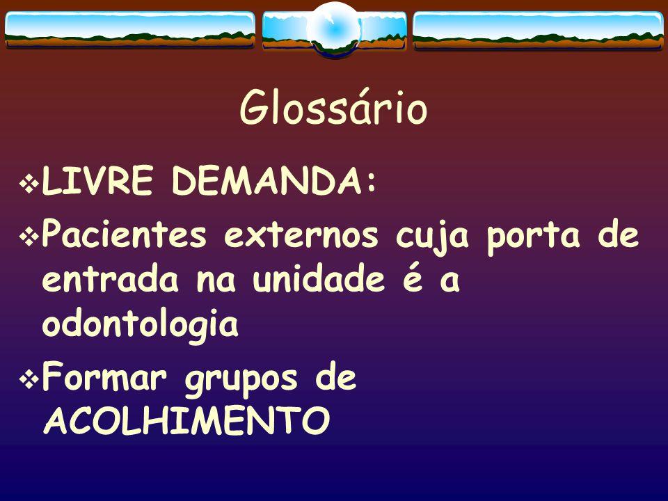 Glossário LIVRE DEMANDA: