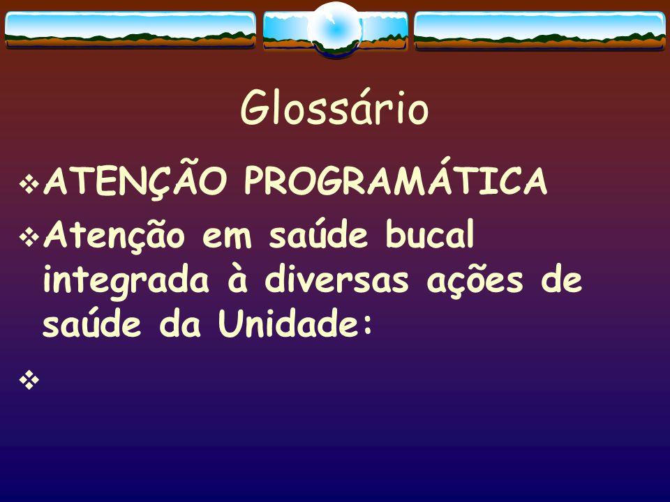 Glossário ATENÇÃO PROGRAMÁTICA