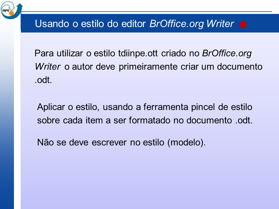 Usando o estilo do editor BrOffice.org Writer