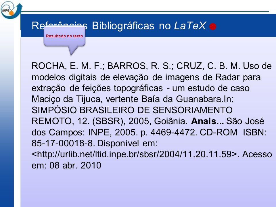 Referências Bibliográficas no LaTeX