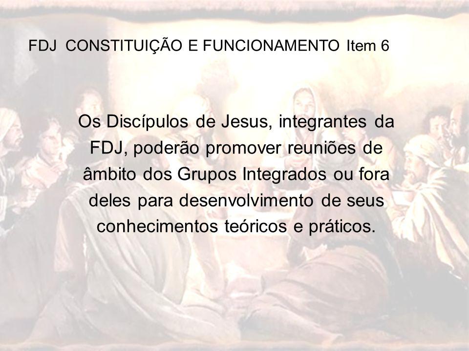 FDJ CONSTITUIÇÃO E FUNCIONAMENTO Item 6