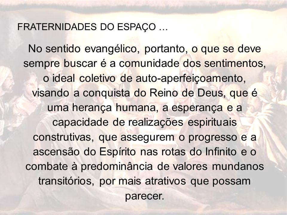 FRATERNIDADES DO ESPAÇO …