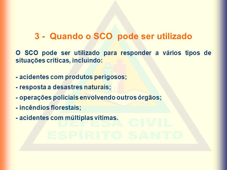 3 - Quando o SCO pode ser utilizado