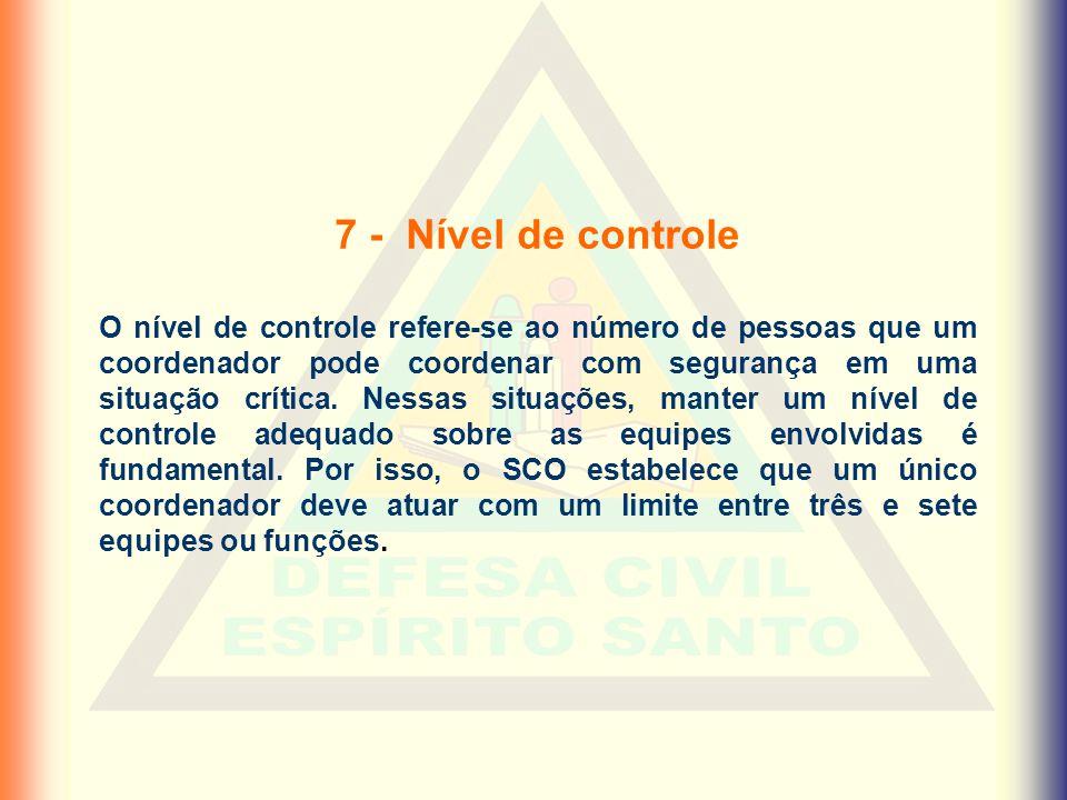 7 - Nível de controle