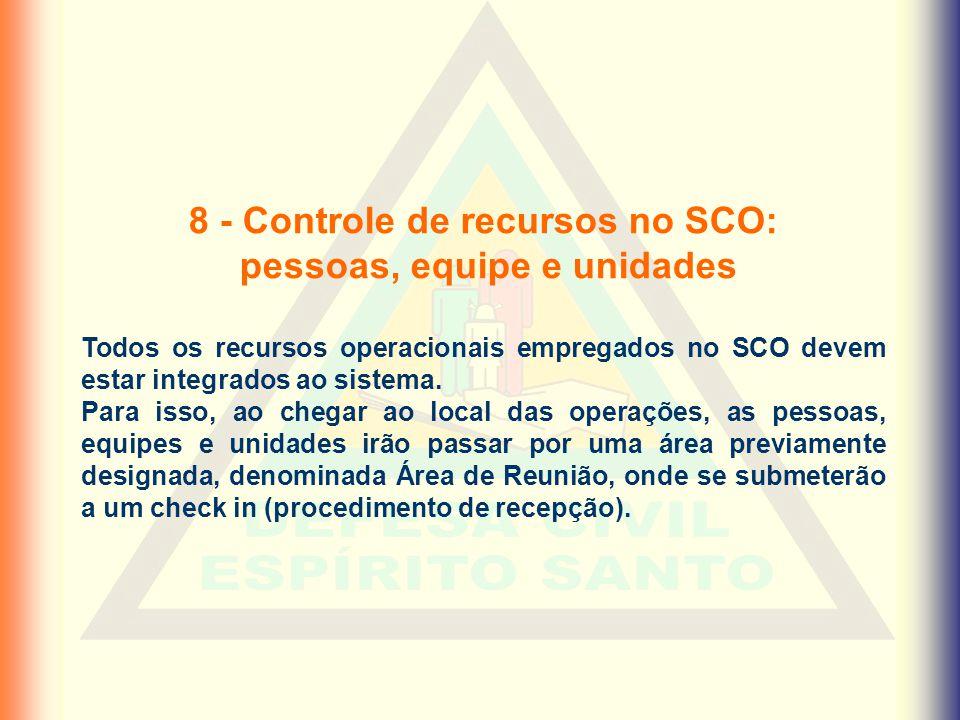 8 - Controle de recursos no SCO: pessoas, equipe e unidades